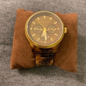 Michael Kors Jet Set Tortoise Shell Ladies Watch